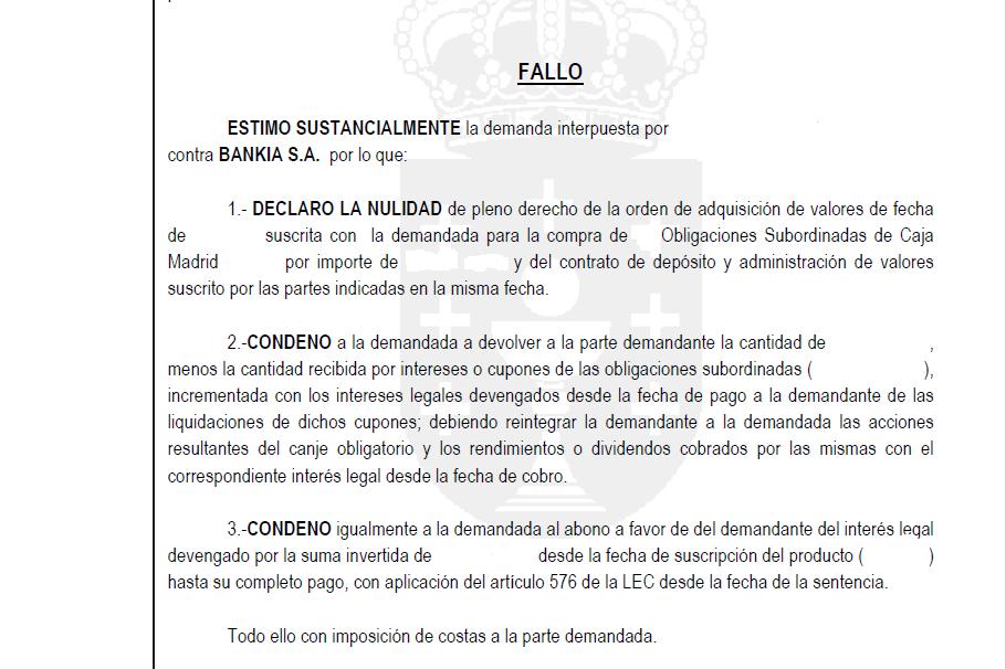 Sentencia Subordinadas Bankia